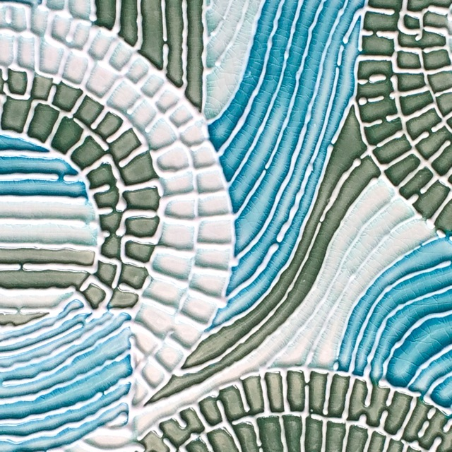 Image shown is prior to printing on fine weave polyester canvas. There is a fine texture of the weave once printed.